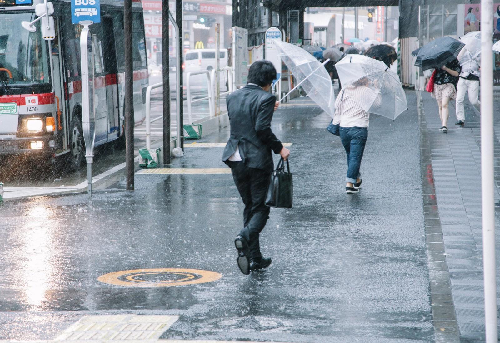 強い台風を使って雨で洗車してみた。